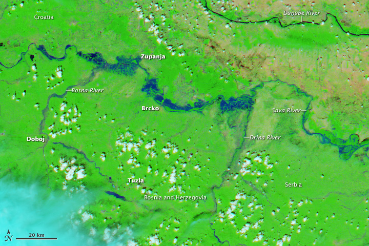 Image captured by NASA's Aqua satellite on 18 May 2014