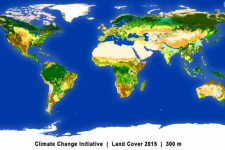 Global land cover map from 2015 (Source: esa)