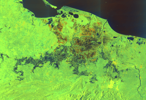 Landslide in Mexico. Image: International Charter Space and Major Disasters.