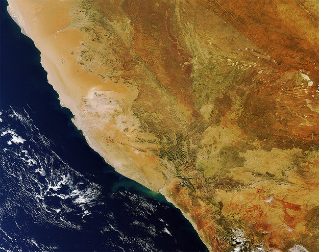 Southern Namibia seen from space by Envisat.