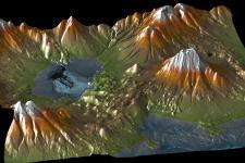 Digital elevation model TandemX. Credit: DLR