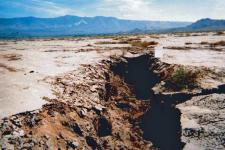 Land subsidence in California due to the withdrawal of groundwater. Image: USGS.