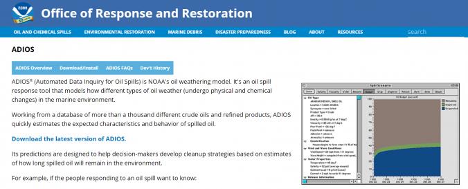 Screenshot of ADIOS