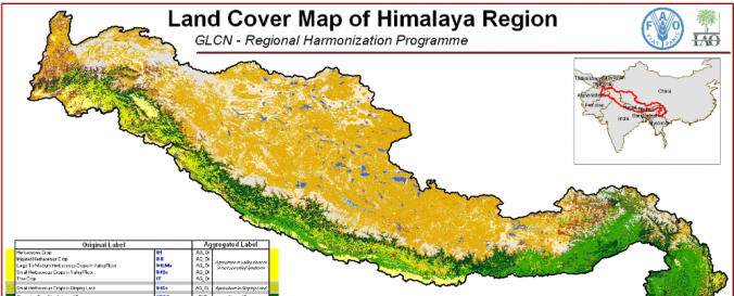 Screenshot of Land Cover and Land Cover Change, Himalaya region (FAO)