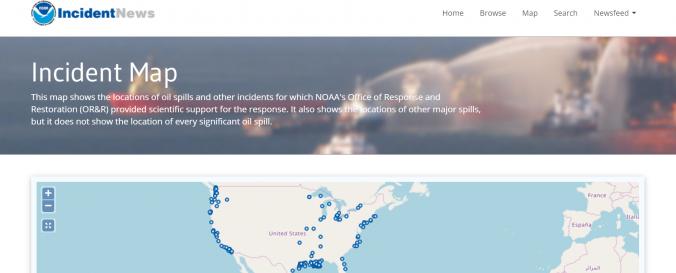 Screenshot of Incident Map