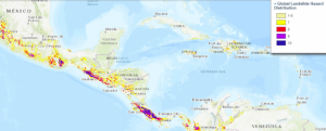 Screenshot of Global Landslide Hazard Distribution