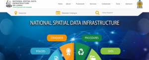 Screenshot of Sri Lanka National Spatial Data Infrastructure (NSDI)