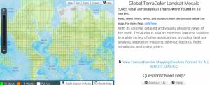 Screenshot of Global TerraColor Landsat Mosaic (EVG)