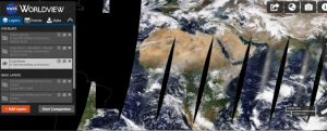 Screenshot of EOSDIS Worldview - NASA