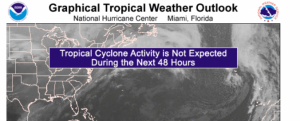 Screenshot of National Hurricane Center (NOAA-GTWO)