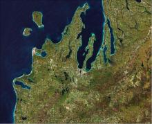 Coastal area captured by Sentinel-2. Image: ESA (CC BY-SA 3.0 IGO).
