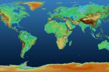 Global TanDEM-X Digital Elevation Model. Image: DLR.