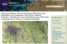 Screenshot of NASA ARSET training website. Image: NASA.