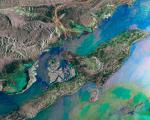 Iran's Qeshm Island seen from space by ESA's Envisat satellite.
