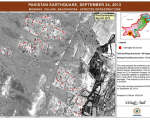 Infrastructure affected by the earthquake in Mashkay Village, Balochistan