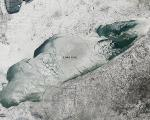 NASA's satellite Aqua captured this MODIS natural color image of lake Erie