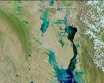 satellite image of floods in Bolivia