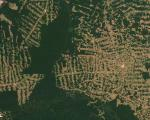 Satellite image of deforestation in Brazil
