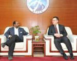 UN-SPIDER Beijing Head of Office Shirish Ravan and APSCO Secretary-General