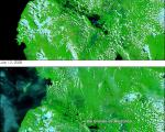 satellite image of floods in the Philippines