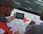 Red Cross members Use OpenStreetMap After Typhoon Haiyan in the Philliphines