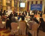 Workshop participants engaged in a simulation exercise