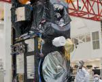 Sentinel-3A in the cleanroom at Thales Alenia Space in Cannes, France.
