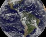 The Earth seen from GOES Satellite on 19 December 2011
