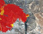 Grading map to monitor fires in the South of Spain (Image: Copernicus)