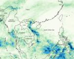 Heavy rainfall in Vietnam between October and November 2008 (Image: NASA)