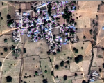 Satellite image of an isolated settlement in Kano, Nigeria (Image: DigitalGlobe)