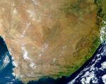 True-colour MODIS satellite image of South Africa (Image: NASA)