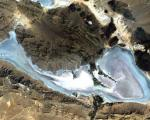 Satellite image of the Neyriz Lakes in southern Iran (Image: ESA)
