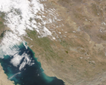 Parts of Iran (Islamic Republic of) and the region captured by the MODIS instrument on board the Terra satellite on 29 March 2019. Image: NASA Worldview application.