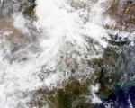 NASA satellite imagery of Northern India on June 2013, showing rainclouds. This data could be combined by Geo-DRM system with other information to improve weather forecast.