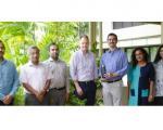 IWMI staff receiving the GeoSpatial World Excellence Award 2020. Image: IWMI.