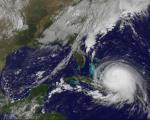Satellite image of Hurricane Joaquin, taken by GOES East satellite on 1 October. (Source: AFP/NOAA)