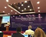 UN-SPIDER's programme coordinator, Luc St-Pierre, speaking at the international workshop