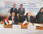 Egyptian Space Agency signs cooperation protocol with French Space Agency. Image: EgSA.