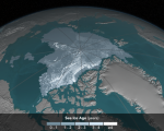 Arctic sea ice by 2016. Image: Courtesy of NASA