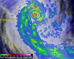 GPM precipitation measurements of cyclone Pam departing Vanuatu on 17 March 2015. (Credit: NASA)