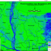 Flood inundation map developed using Sentinel-1 satellite data, as part of the rapid mapping response under the SERVIR-HKH Initiative at ICIMOD. Map: Kabir Uddin/ICIMOD.
