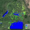 Wetlands of Uganda from Copernicus Sentinel data. Image: ESA