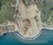 Air photo of the Mud Creek landslide, taken on May 27, 2017.