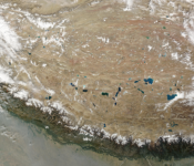 Satellite image of the Tibetan Plateau. Image: Jeff Schmaltz, MODIS Rapid Response Team, NASA/GSFC