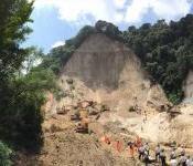 Landslide in El Cambray II in the municipality of Santa Catarina Pinula in 2015. Image: CONRED.