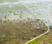 Areas flooded and damaged following cyclone Idai, northwest of Beira. Image: European Union/Christian Jepsen.