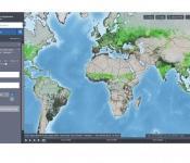 Screenshot of the FAO Hand-in-Hand geospatial platform.