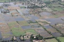 An aerial view of flooding in Pakistan in 2010. Image Australian Government/CC BY 2.0