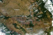 Fires in Thailand, Cambodia and Vietnam seen from space